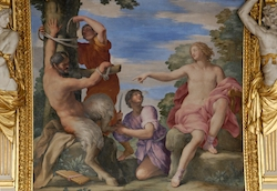 Marsyas being flayed by Apollo