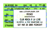 Prince ticket