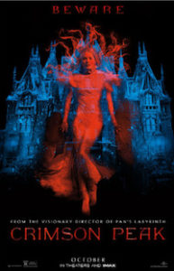 Movie poster for Gothic ghost story Crimson Peak